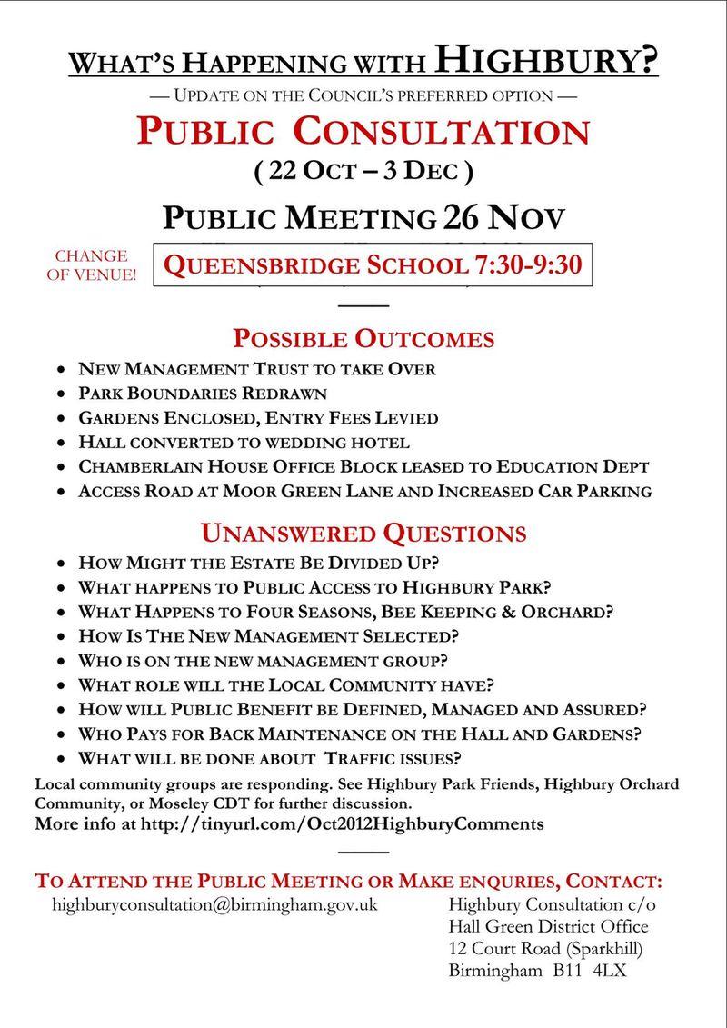 consultation flyer