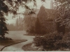 Uffculme Cadbury Album towards houise from SE garden path showing yew approx 1910
